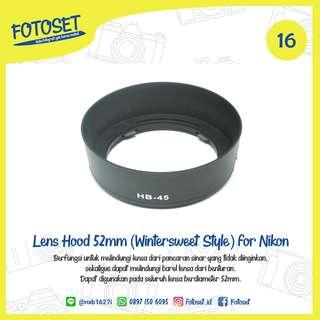 Lens Hood 58mm (Winter Style) for Nikon