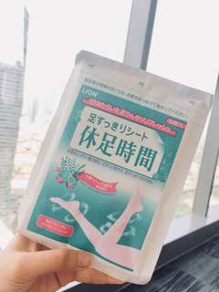 NEW Lion Japan Foot Relief Cooling Patch