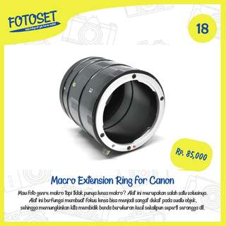 Macro Extension Ring for Canon
