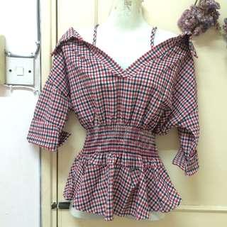 [BNWT] checkered blouse
