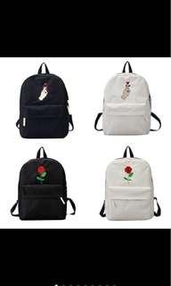embroidered bagpack uzzlang