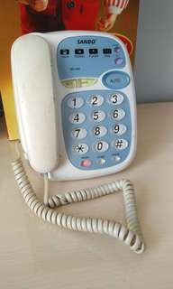 (老人家專用大字鍵盤)家居電話 連電話線