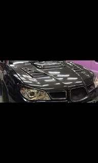 Subaru carbon fibre bonnet seibon
