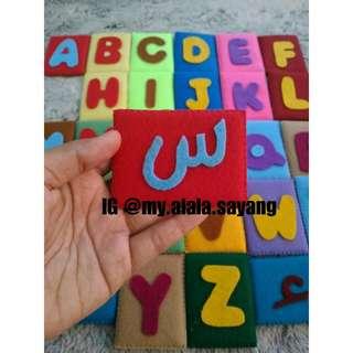 Huruf hijaiyah & ABC (2-sided)