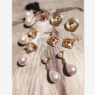 珍珠復古耳環