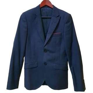 Original Topman Slim Coat Blazer - Blue