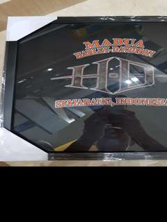 Indonesian Harley t shirt in a frame