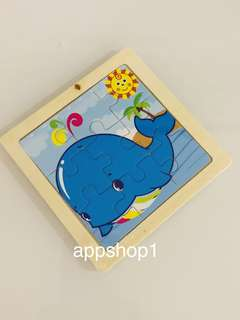 🐳 whales wooden puzzle- kids party celebration goodies bag, goody bag gift