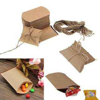 Kraft Paper Pouch Envelope Small Pocket with Jute String