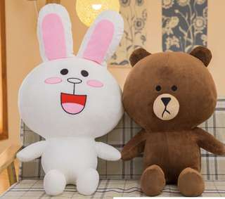 Line Friends Brown and Cony Stuffed Toy