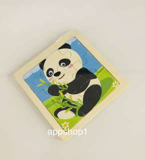 Panda wooden puzzle- toddlers goody bag, goodie bag packages, goodie favors