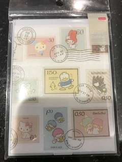 Mt washi-taped folding mirror (Sanrio stamps)