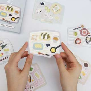 (Instock) Japanese Set Meal Postcards/ Post Cards