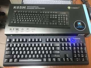 🚚 機械鍵盤I-rock IRK65MN青軸鍵盤