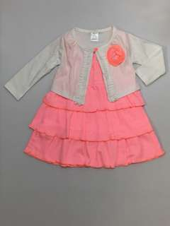 Sweet Dress with Cardigan (2 pc)