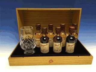 格蘭花格威士忌酒辦連水晶酒杯套装配收藏木盒。仝球只限量發行688套。