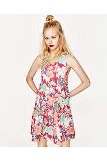 Auth Zara Trafaluc floral dress