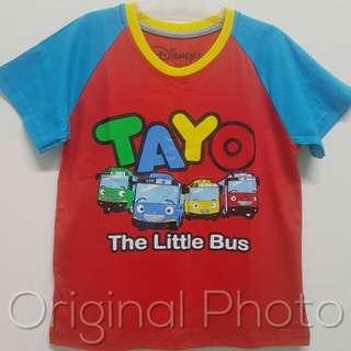 Kaos anak karakter tayo size 1 - 6 tahun