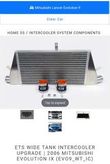 "Evo 9 3.5""ETS intercooler"