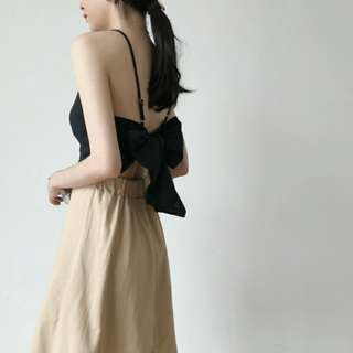 Korea Ulzzang Backless Vest Crop top