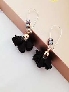 Handmade Flower Kidney Hook Earring - Last Pair
