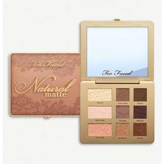 🌿Too Faced Matte Eyeshadow Palette