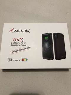 BNIB Battery Case with wireless charging for iPhone X