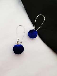 Sales- Handmade Blue Velvet Earring Last Pair
