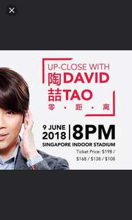 David tao concerts tickets at original price without markup