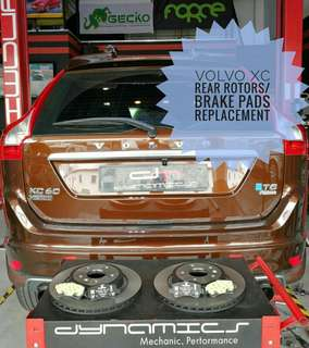 Volvo XC60 : Original Rear_Rotors & Rear_Brake_Pads with Brake_Sensor replacement