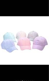 plain colour baseball cap