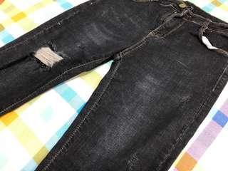 微喇叭腳 牛仔褲 黑色 包郵 #mayflashsale