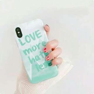 🚚 Iphone 清新綠手寫字軟殼