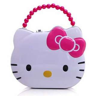Pre Order HelloKitty lock piggy bank Php 200 10×14×7cm #jelm