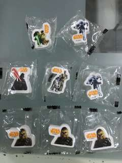 STAR WARS LIMITED EDITION EASERS @$0.50 each