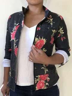 Vintage floral denim jacket