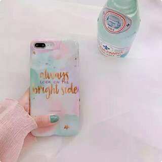 🚚 Iphone 馬卡龍色手寫字手機軟殼
