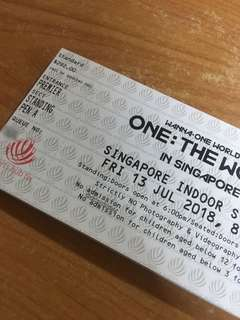 [WTS] WANNA ONE ONE:THE WORLD TOUR SINGAPORE CAT 1 TICKETS