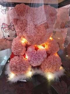 Paper rose bear