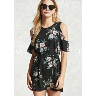 Forever 21 Open-Shoulder Floral Dress