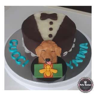 Golden Retriever Customised Cake ❤ medium