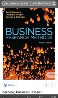 Murdoch uni business research methods fourth edition