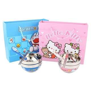 Satinless Hello Kitty / Doraemon Cartoon Tableware