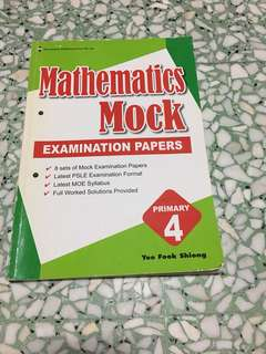 Maths mock exam papers P4