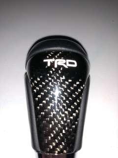 TRD carbon gear knob