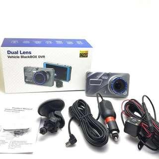 Car Camera - Front & Back Dual-Lens FHD (4inch Crystal Glass Display) FHD Car recorder Dash cam - Car Rear Camera - Reverse Car camera •Latest Sleek Design•