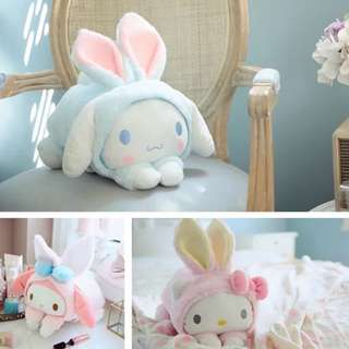 毛絨玩偶卡通兔抱枕/面紙套