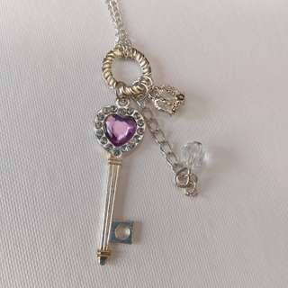 Heart Key Accessory Necklace Silver Gold For Women