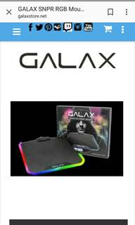 GALAX SNPR RGB MOUSE PAD