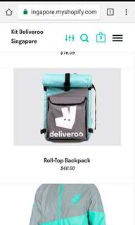 Deliveroo new backpack for delivery light and comfortable fr d